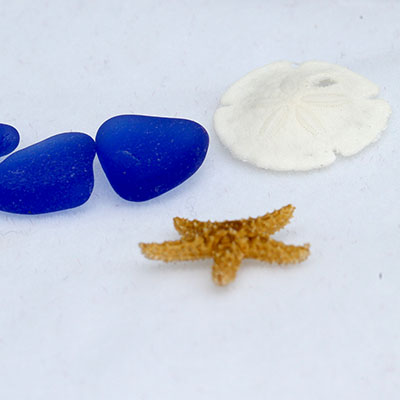 Sea Glass and locket items