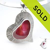 Ultra Rare Sea Glass Heart Necklace